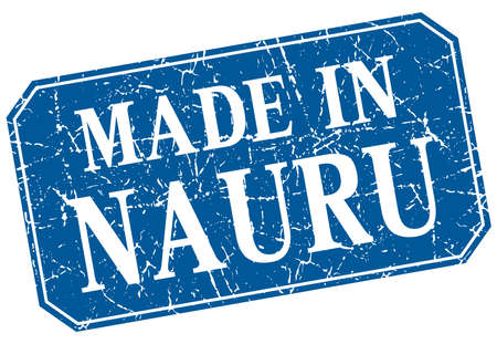 nauru: made in Nauru blue square grunge stamp