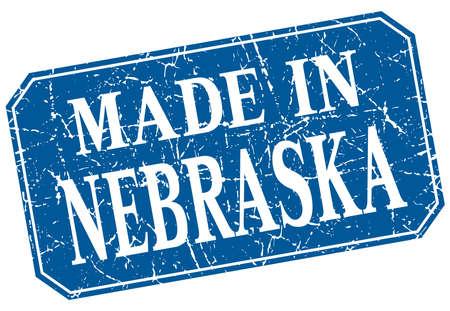 nebraska: made in Nebraska blue square grunge stamp