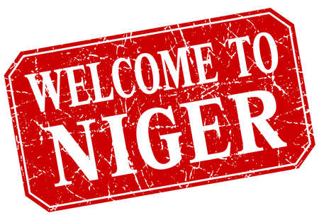 niger: welcome to Niger red square grunge stamp