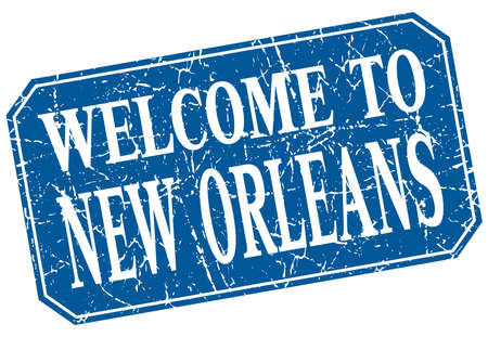 new orleans: welcome to New Orleans blue square grunge stamp Illustration