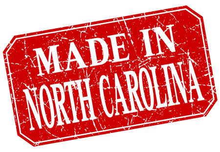 north carolina: made in North Carolina red square grunge stamp
