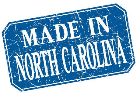 north carolina: made in North Carolina blue square grunge stamp