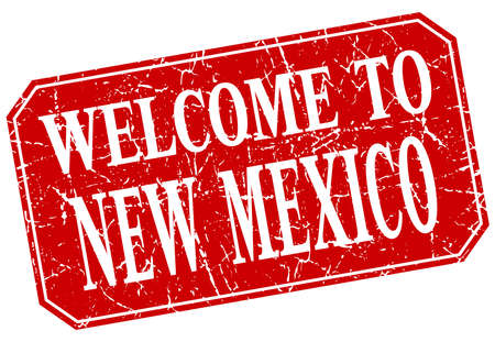 new mexico: welcome to New Mexico red square grunge stamp Illustration