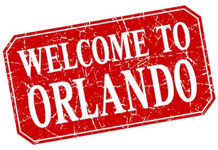 orlando: welcome to Orlando red square grunge stamp
