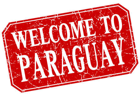 paraguay: welcome to Paraguay red square grunge stamp Illustration