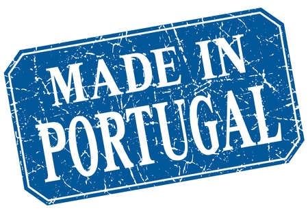 made in portugal: made in Portugal blue square grunge stamp