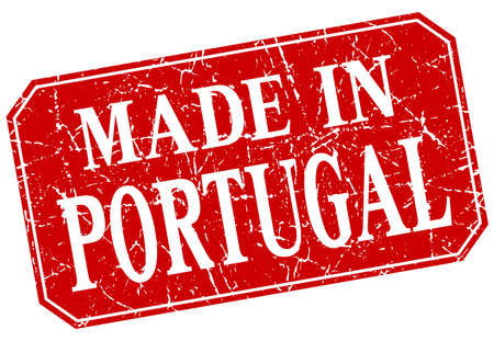 made in portugal: made in Portugal red square grunge stamp