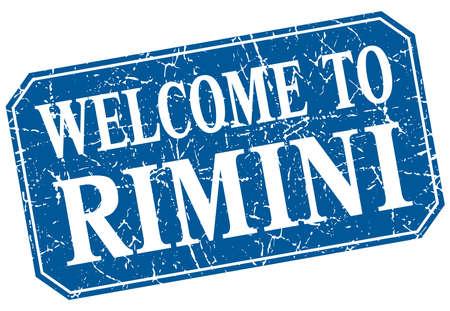 rimini: welcome to Rimini blue square grunge stamp Illustration