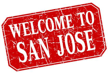 san jose: welcome to San Jose red square grunge stamp Illustration