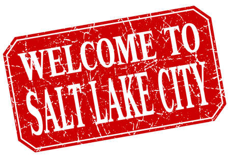 salt lake city: welcome to Salt Lake City red square grunge stamp Illustration