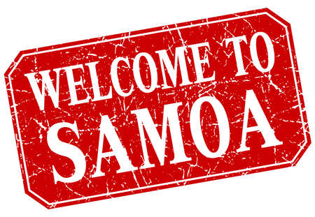 samoa: welcome to Samoa red square grunge stamp Illustration