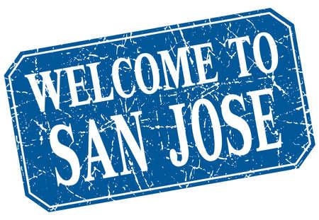 san jose: welcome to San Jose blue square grunge stamp Illustration