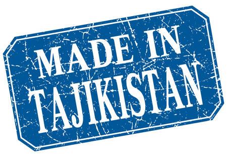 tajikistan: made in Tajikistan blue square grunge stamp