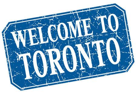 toronto: welcome to Toronto blue square grunge stamp