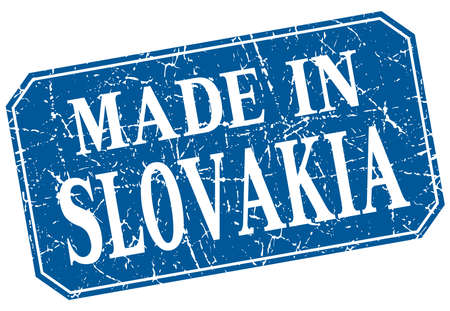 slovakia: made in Slovakia blue square grunge stamp Illustration
