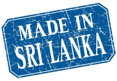 sri lanka: made in Sri Lanka blue square grunge stamp