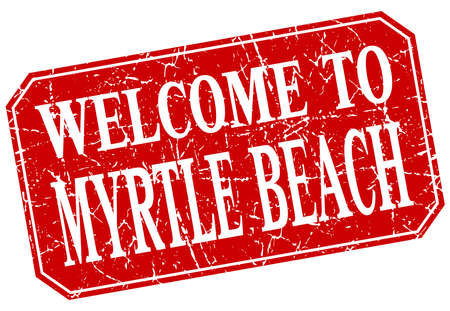 myrtle beach: welcome to Myrtle Beach red square grunge stamp