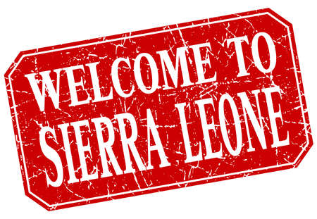 sierra leone: welcome to Sierra Leone red square grunge stamp