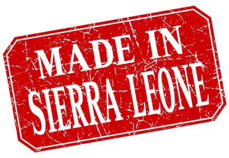 sierra leone: made in Sierra Leone red square grunge stamp