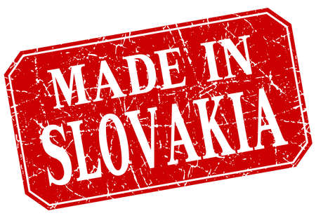 slovakia: made in Slovakia red square grunge stamp