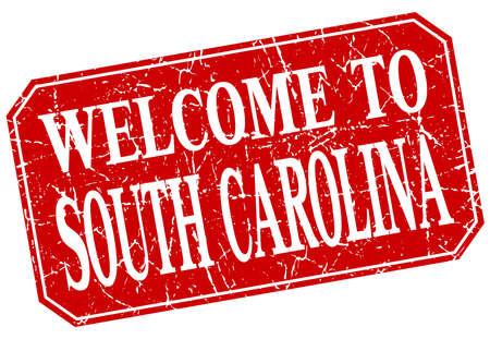 south carolina: welcome to South Carolina red square grunge stamp