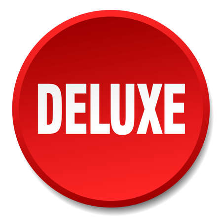 deluxe: deluxe red round flat isolated push button