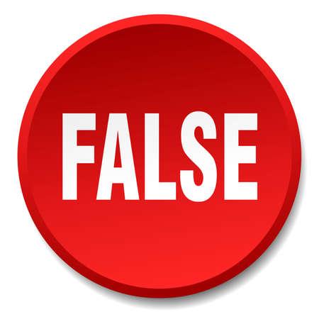 false: false red round flat isolated push button