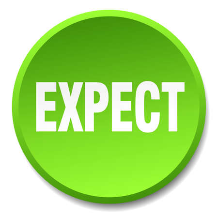 expect: expect green round flat isolated push button Illustration