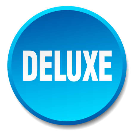 deluxe: deluxe blue round flat isolated push button Illustration
