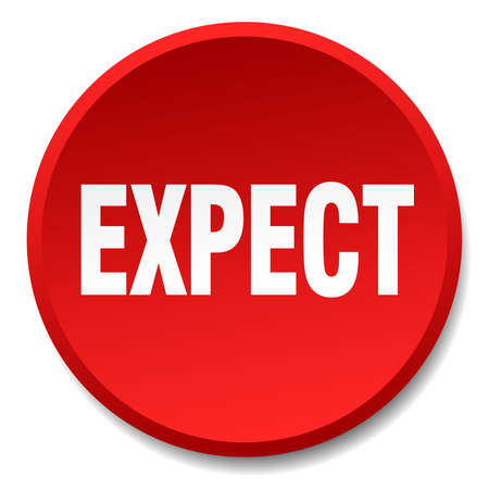 expect: expect red round flat isolated push button