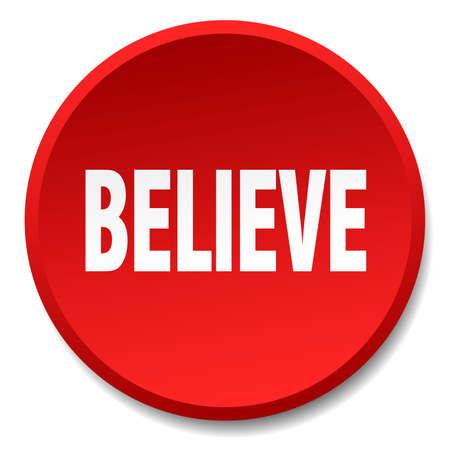 creer: creer aislado plana botón rojo redondo de empuje