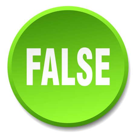 false: false green round flat isolated push button