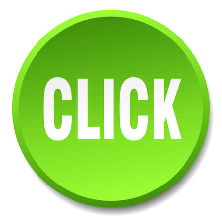green button: click green round flat isolated push button Illustration