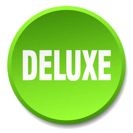 deluxe: deluxe green round flat isolated push button