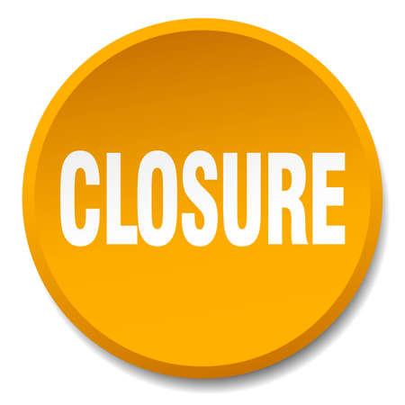 closure: closure orange round flat isolated push button Illustration