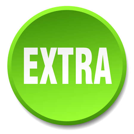 extra: extra green round flat isolated push button