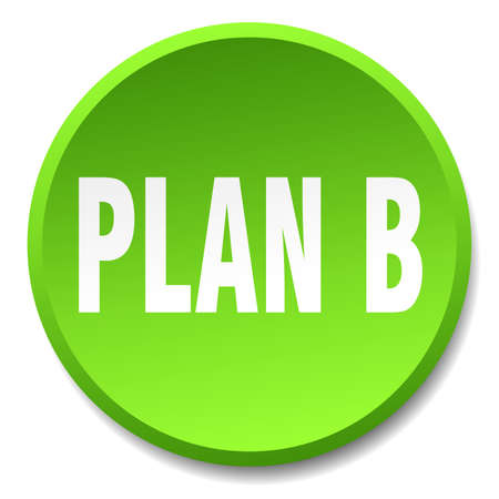 plan b: plan b green round flat isolated push button
