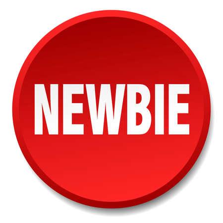 newbie: newbie red round flat isolated push button