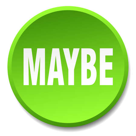 maybe: maybe green round flat isolated push button