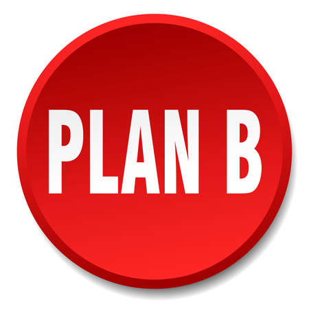 plan b: plan b red round flat isolated push button
