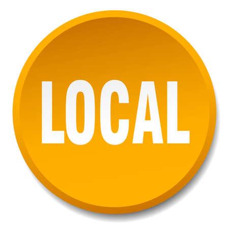 local: local orange round flat isolated push button Illustration