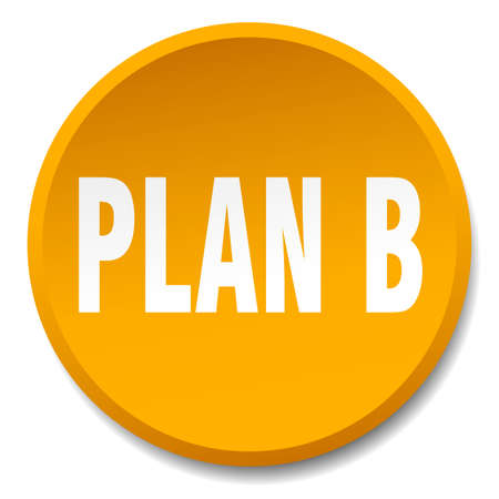 plan b: plan b orange round flat isolated push button