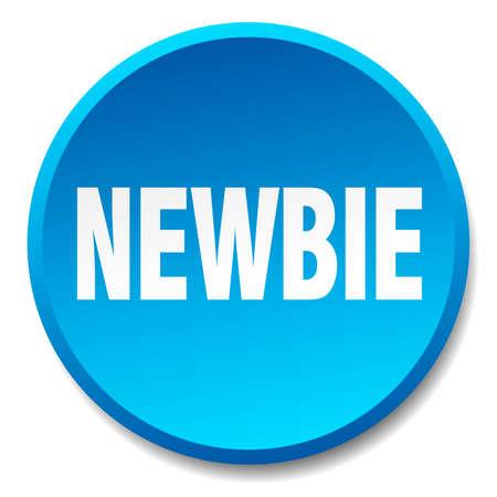 newbie: newbie blue round flat isolated push button