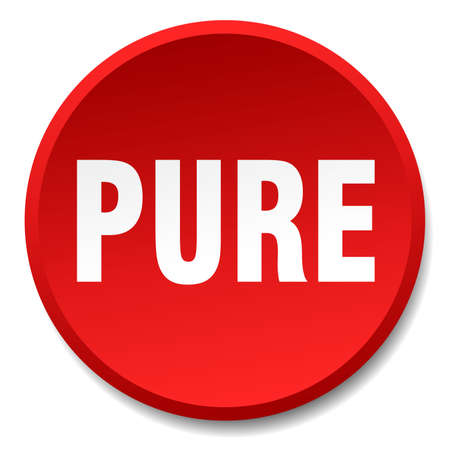 pure: pure red round flat isolated push button Illustration
