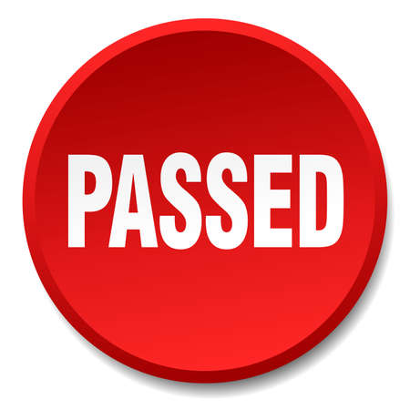 passed: passed red round flat isolated push button