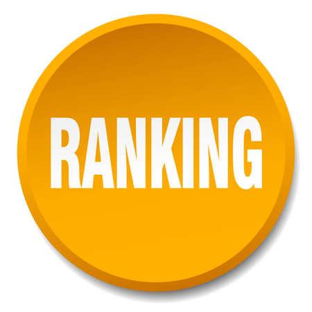 ranking: ranking orange round flat isolated push button