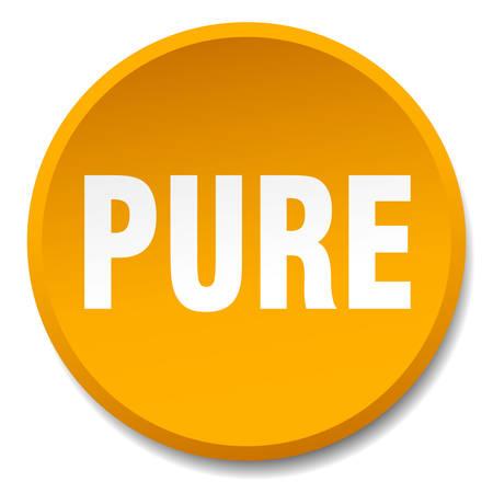pure: pure orange round flat isolated push button Illustration