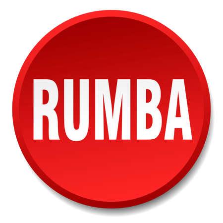 rumba: rumba red round flat isolated push button