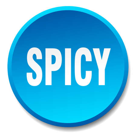 spicy: spicy blue round flat isolated push button