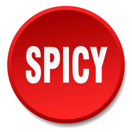 spicy: spicy red round flat isolated push button